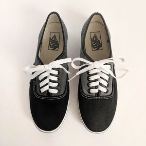 Vans Authentic Black Grey White Sneakers Shoes